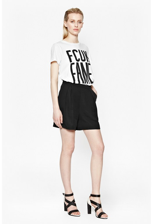 Herringbone Tencel City Shorts