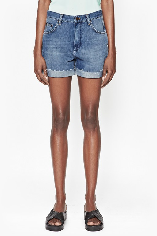 Complete the Look Cut-Off Denim Shorts