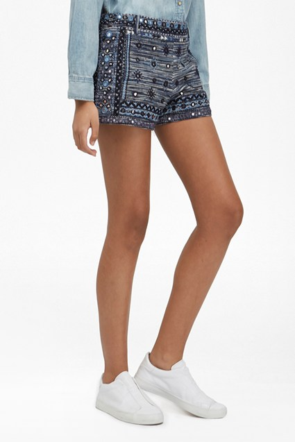 Palm Valley Embellished Mini Shorts