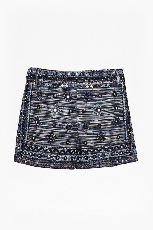 Complete the Look Palm Valley Embellished Mini Shorts