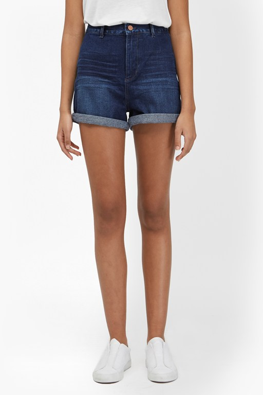 mallory high waist denim shorts