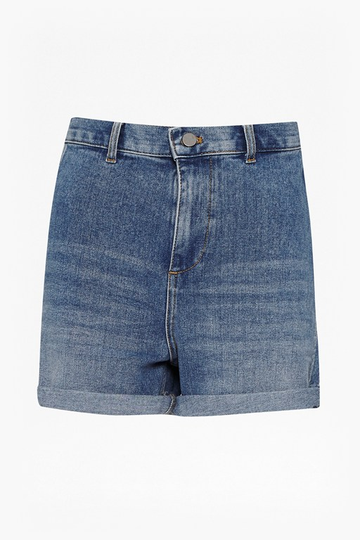 Complete the Look Mallory High Waist Denim Shorts