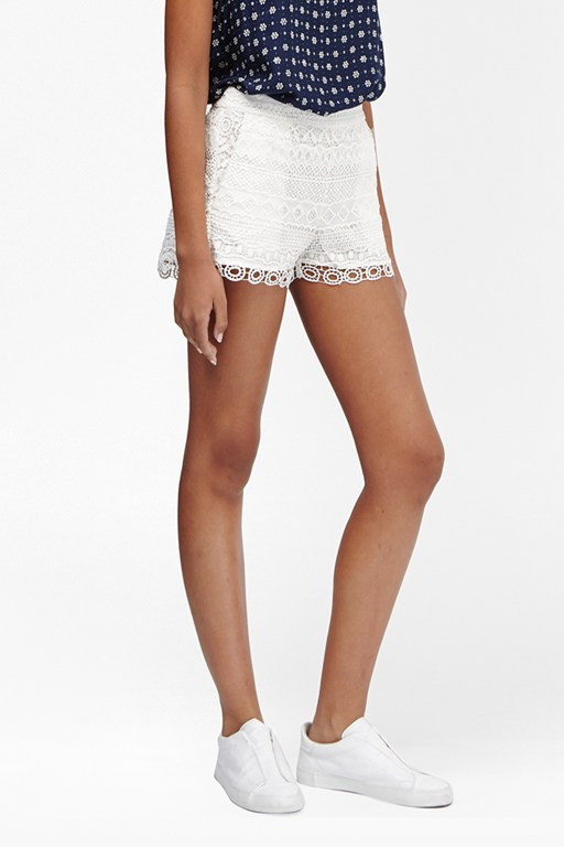 castaway lace mini shorts