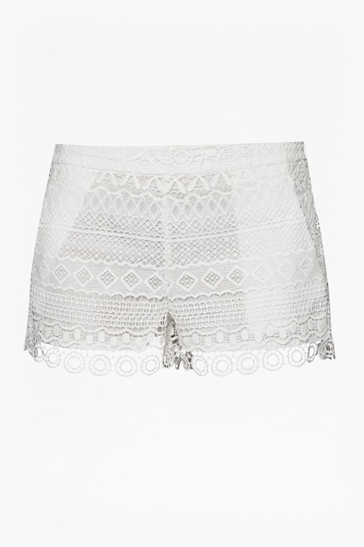 Complete the Look Castaway Lace Mini Shorts