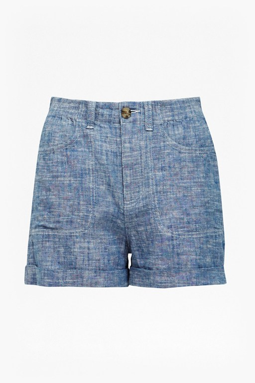 Complete the Look Hatched Linen Shorts