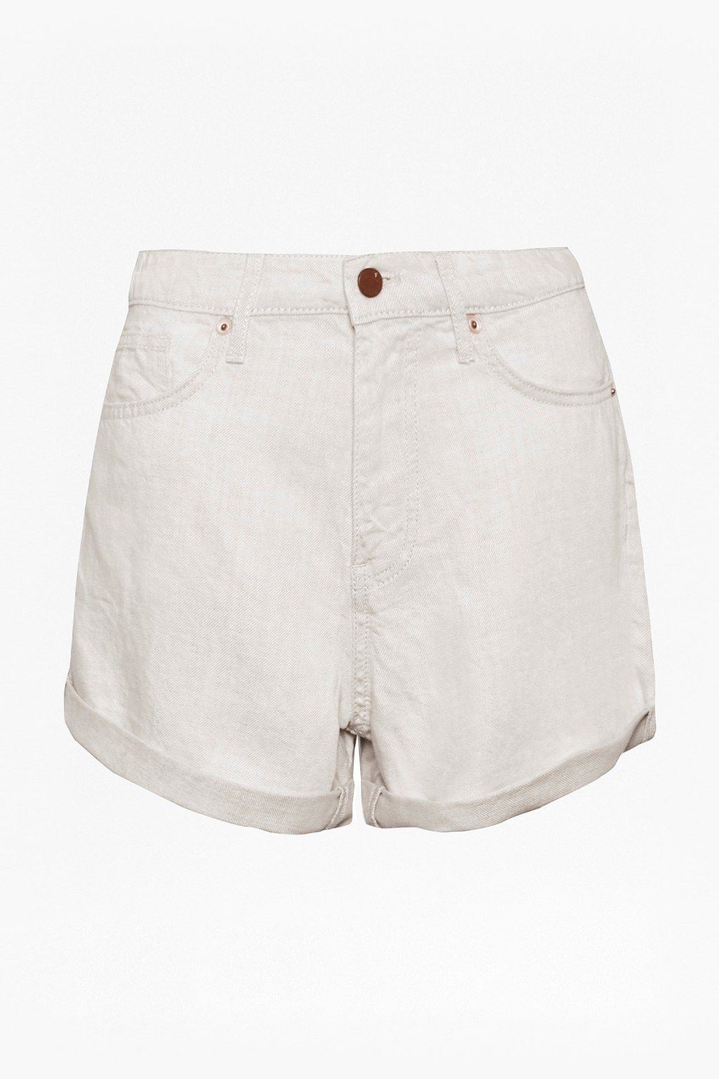 c7687fd6 Linen Denim High Waisted Shorts | Collections | French Connection