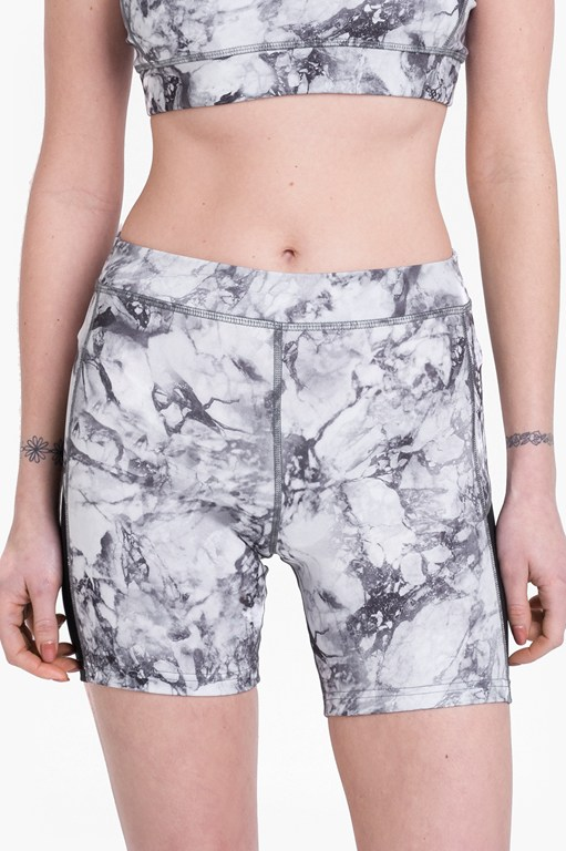 comfort stretch marble print performance shorts
