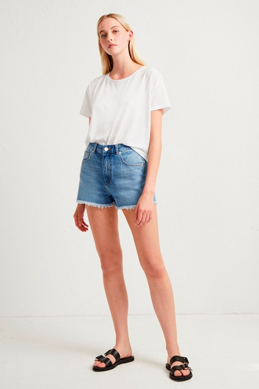 laos denim cut off shorts