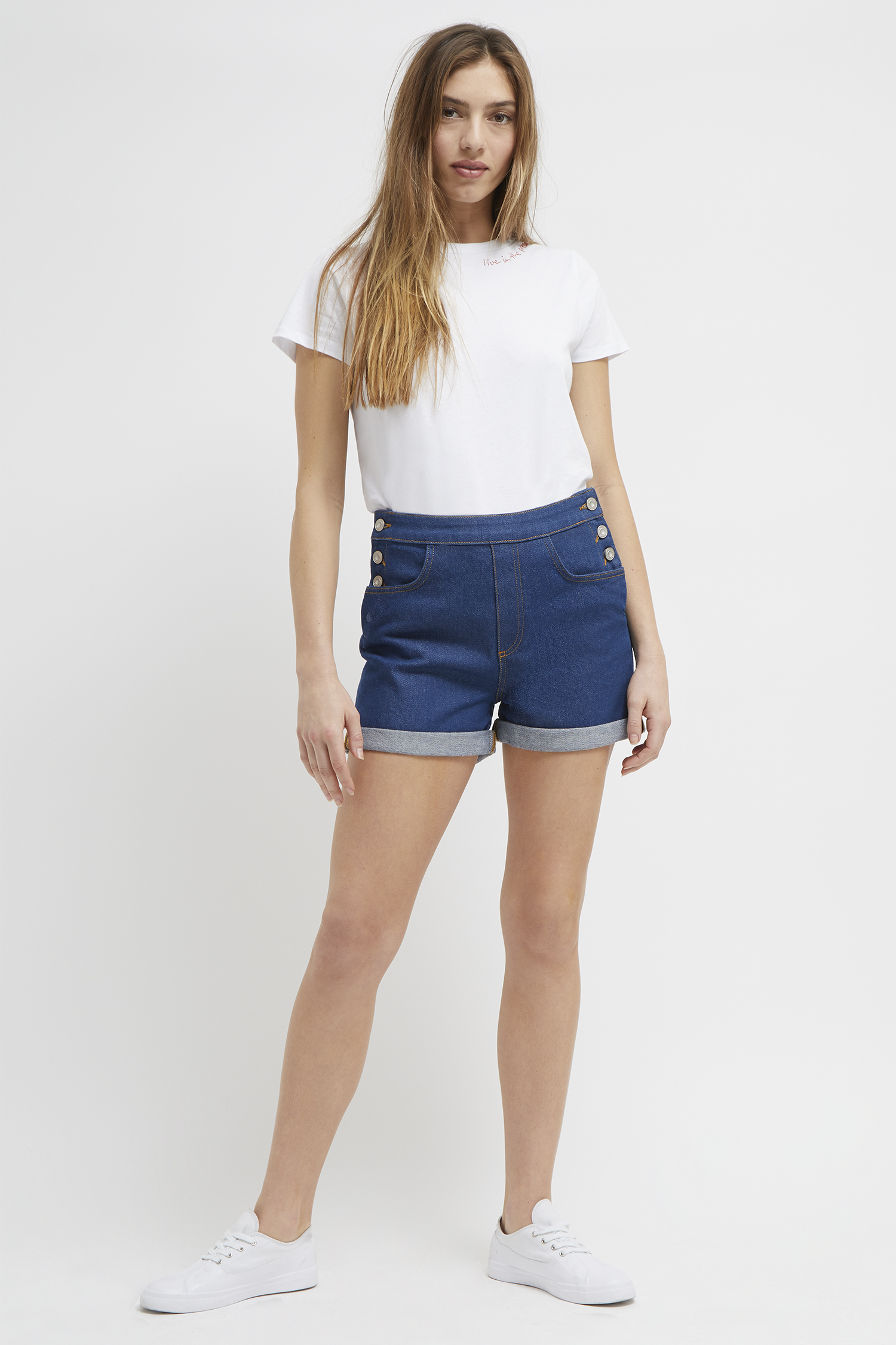 best place to buy high waisted denim shorts