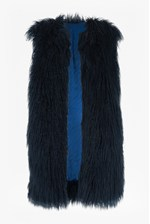 Looks Great With Chicago Long Faux Fur Gilet