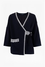 Looks Great With Jasmine Stitch Embroidered Kimono