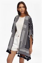 Looks Great With Jacquard Patchwork Shawl