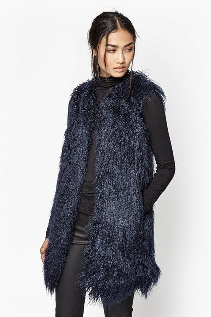 Chicago Long Faux Fur Gilet