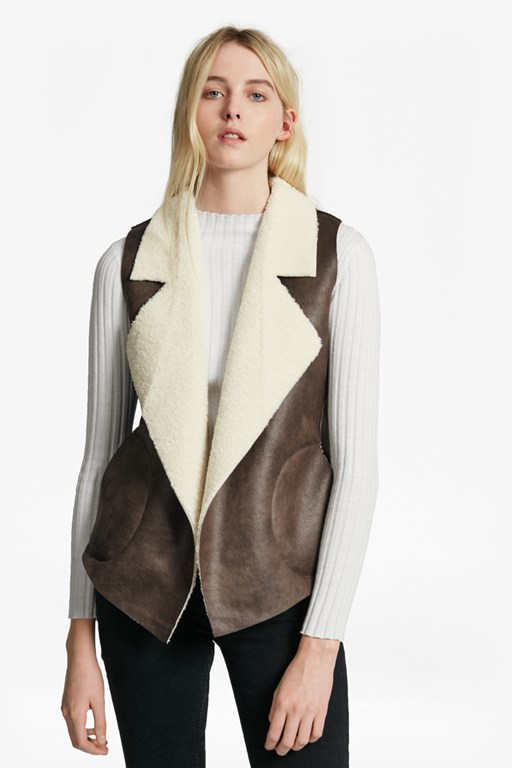 winter rhoda reversible borg gilet