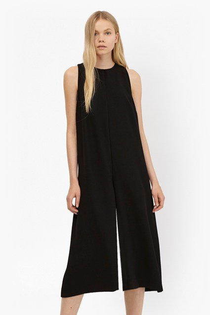 Arrow Crepe High Neck Jumpsuit