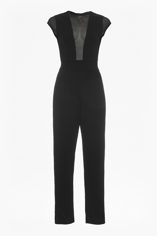 Complete the Look Marie Chiffon Sleeveless Jersey Jumpsuit