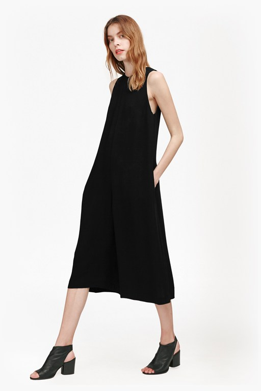 evening dew sleeveless jumpsuit