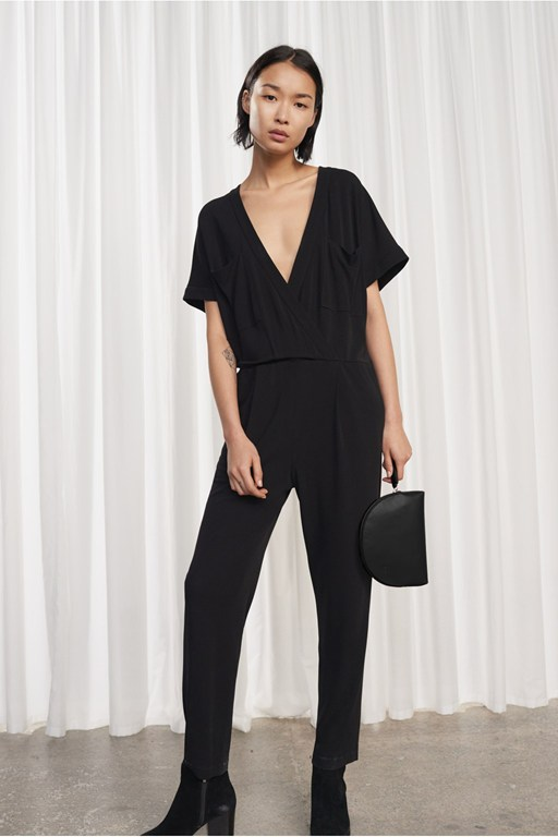 elsa draped jersey jumpsuit