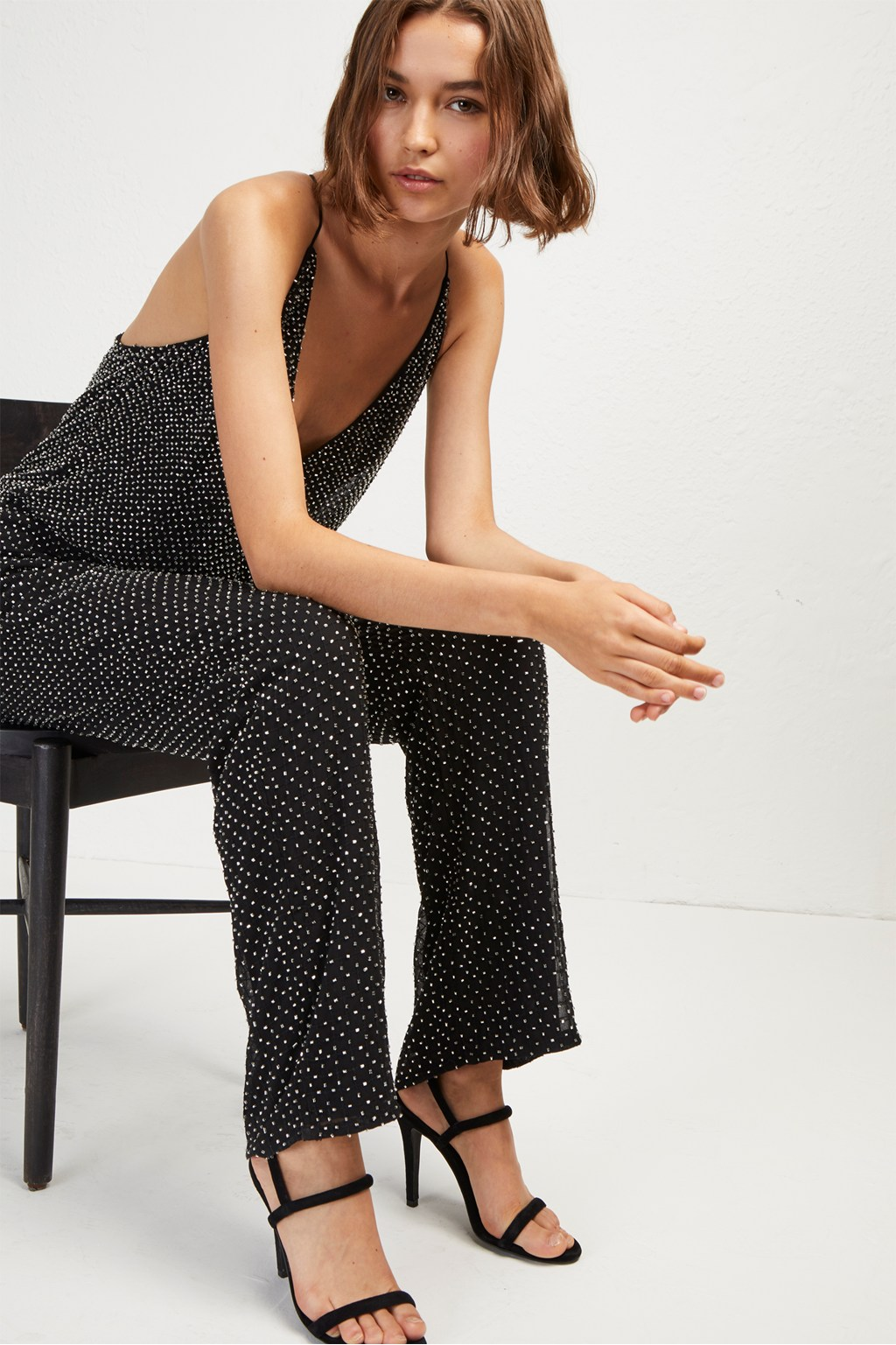 Clara Embellished Strappy Jumpsuit Collections French Connection