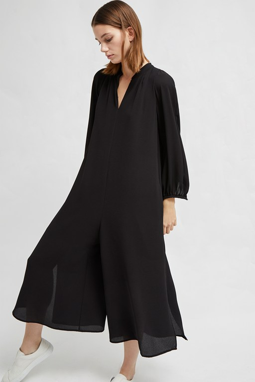 mahi drape long sleeve jumpsuit