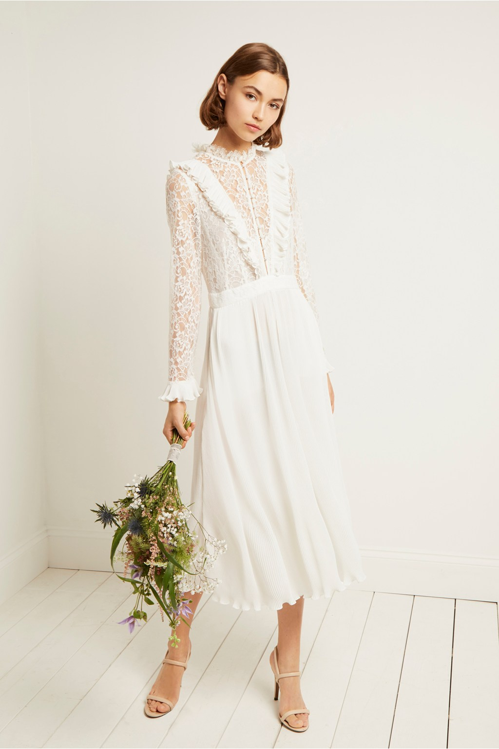 6b0ec2359bfe0 Clandre Vintage Lace Jumpsuit | Collections | French Connection
