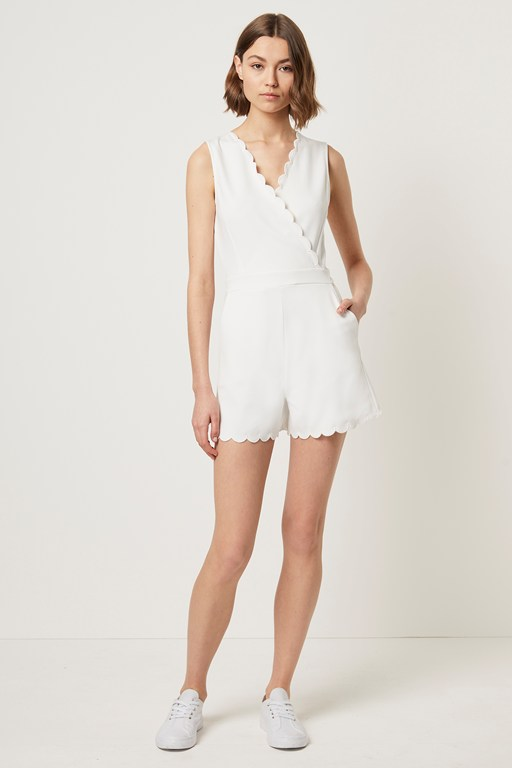 beau scallop playsuit