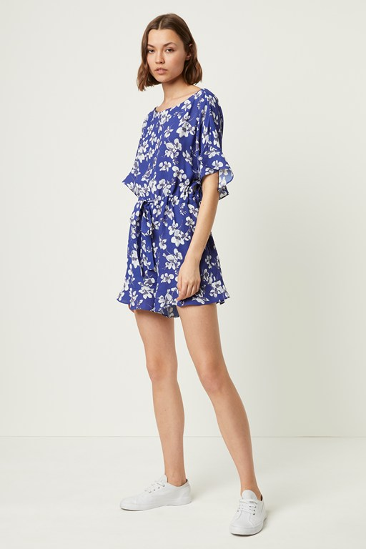 fio crepe short sleeve playsuit