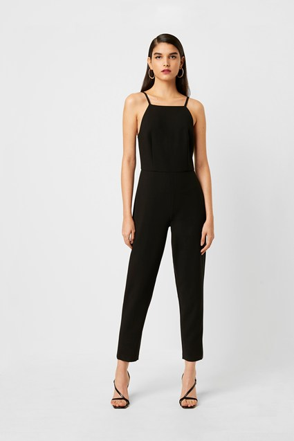 Whisper Square Neck Tapered Leg Jumpsuit
