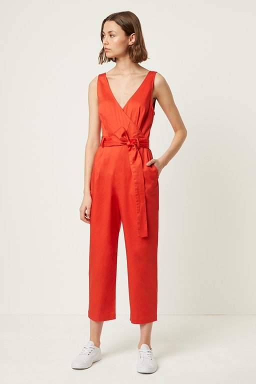 briella cotton stretch blend jumpsuit
