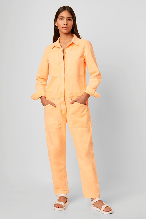 sekai neon denim boilersuit