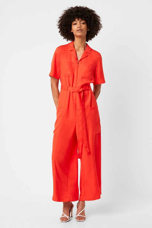 enzo drape belted boilersuit