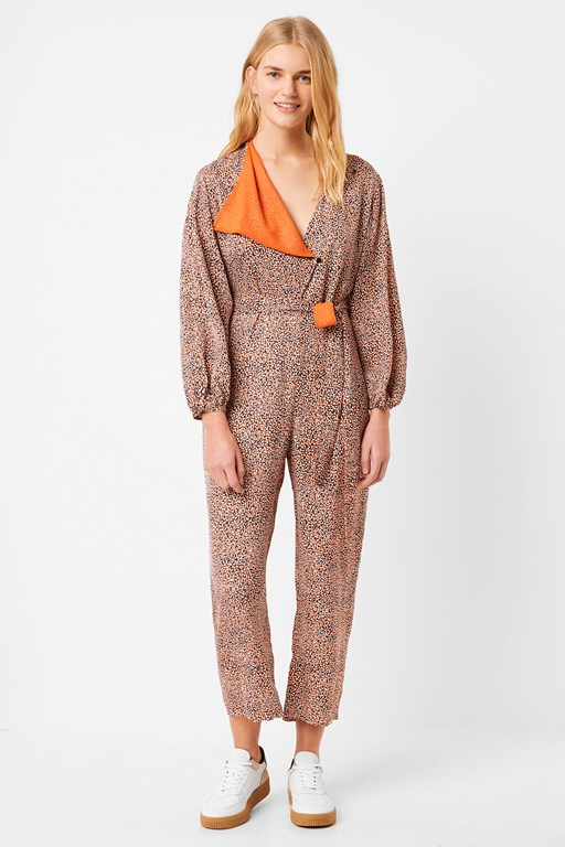 chinwe mix printed jumpsuit