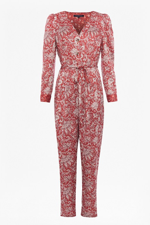 deona paisley v neck jumpsuit