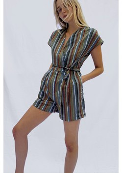 Vanya Stripe Seersucker Playsuit
