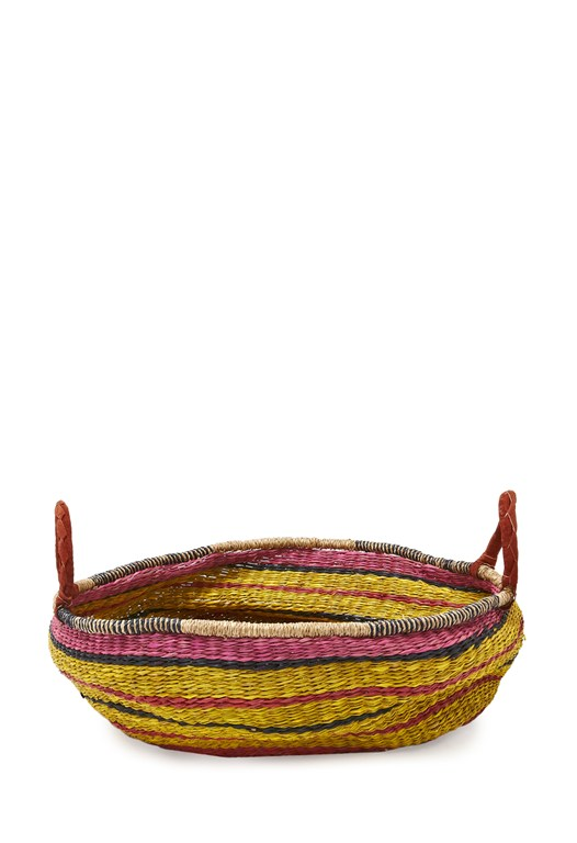 Large Pink & Yellow Basket