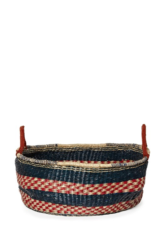 Large Blue & Red Basket