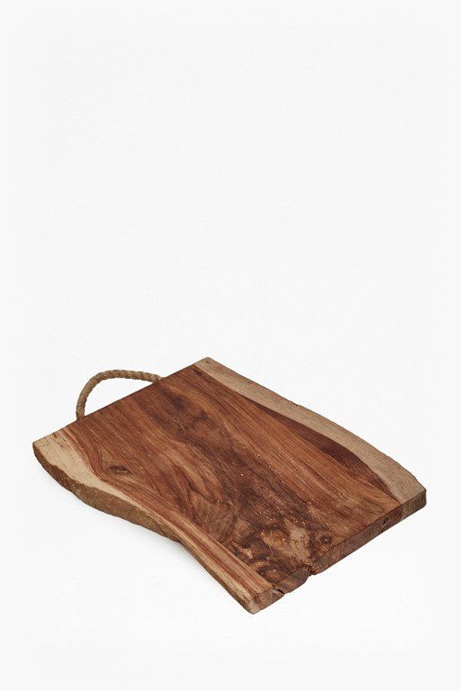 Complete the Look Raw Live Edge Chopping Board