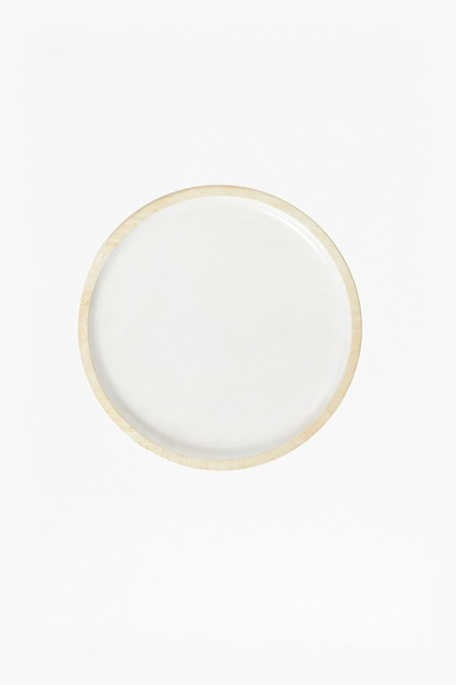Complete the Look Cloud White Wooden Platter