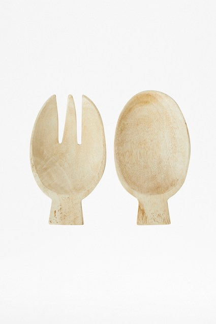 Sun Bleach Wooden Salad Server