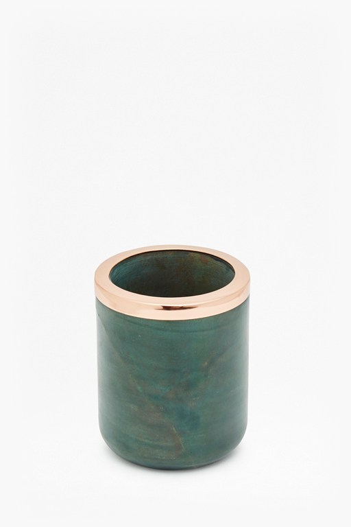 copper and marble container