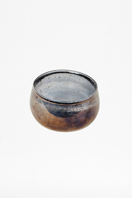 Luxe Recycled Glass Blue Bowl