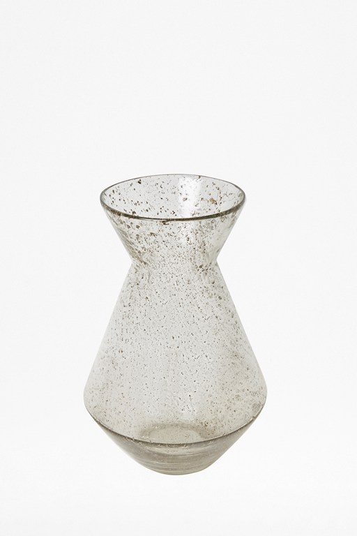 small luxe clear recycled glass trumpet vase