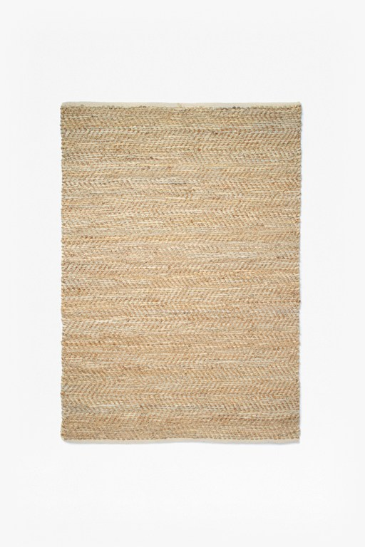 Complete the Look Jute And Leather Rug