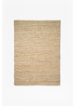 Jute And Leather Rug
