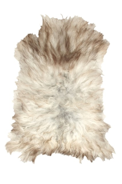 White And Grey Sheepskin Rug