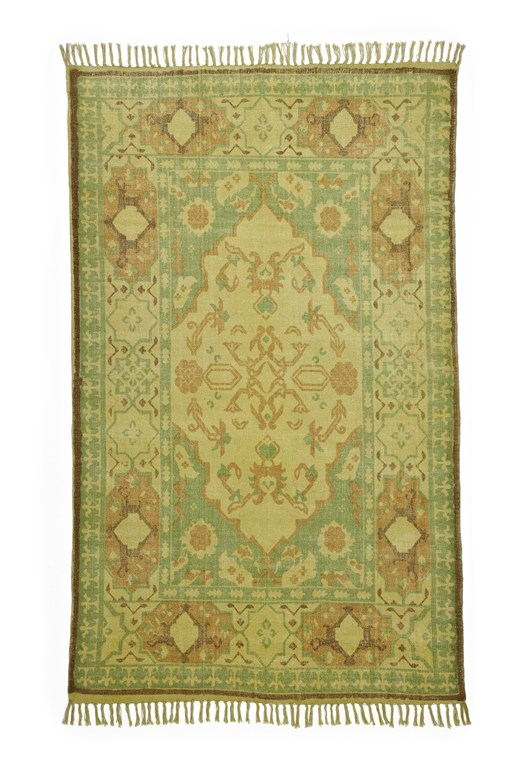 Green Field Cotton Rug