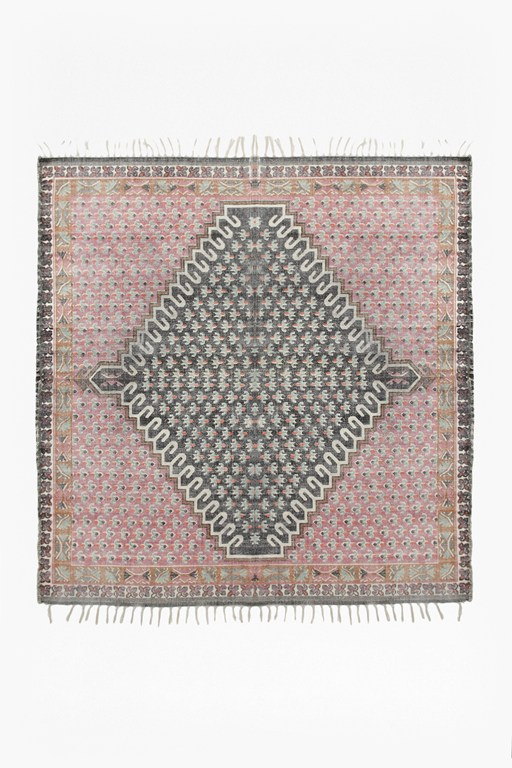 large poppy field rug