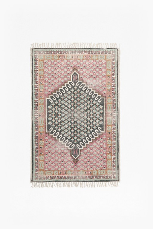 medium poppy field rug