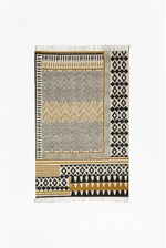 Looks Great With Ochre Block Printed Rug