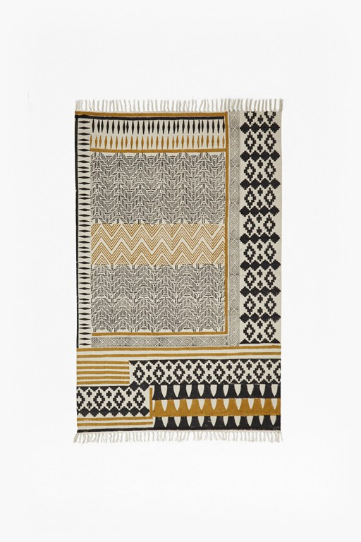 Complete the Look Ochre Block Printed Rug